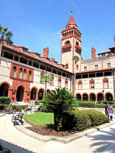 St. Augustine Lightner Museum...as I recall there is some lovely Tiffany glass in here...worth seeing