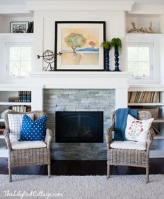 Living Room Decor - Finally Revealed! - The Lilypad Cottagelove the fireplace