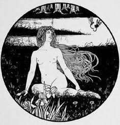 """Ephraim Moses Lilien, """"Nur Wer die Sehnsucht Kennt"""" from E. M. Lilien, sein Werk, 1903"""