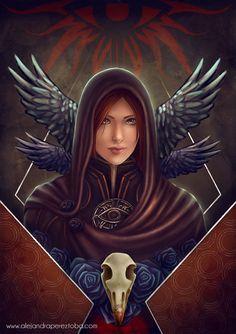 Dragon Age Inquisition Leliana Illustration art par MieMoeShop