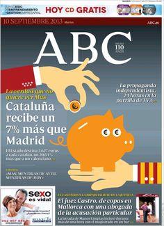 Los Titulares y Portadas de Noticias Destacadas Españolas del 10 de Septiembre de 2013 del Diario ABC ¿Que le pareció esta Portada de este Diario Español?