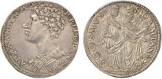 NumisBids: Nomisma Spa Auction 50, Lot 87 : FIRENZE Alessandro de Medici (1532-1537) Testone – MIR 103 AG (g...