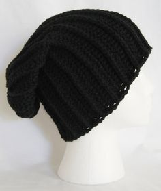 long slouch beanie unisex fits teens and adults hand by jeniebug76, $18.00