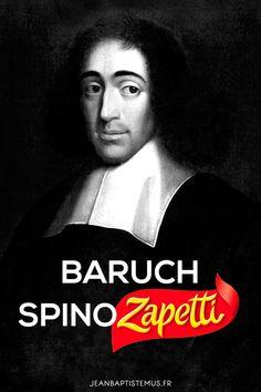 Ecriv1 - Baruch Spinoza x Zapetti - #ecrivain #auteur #litterature #livre #lecture #mashup #humour #marque #toulon #graphisme