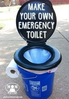 Mommy...I need to go potty!! But there's no water service, you're out camping, or on a long trip with no gas station in site. Learn how to make your own emergency toilet ... just in case!