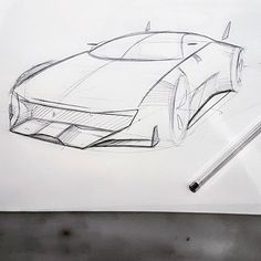 182/365 Quick lines are some times more fun #whoslineisitanyway #cardesigner #designsketching #designcommunity #dailyupdate #draweverydamnday #sketchbook #bicsketch #voiture #toureiffel #parisian #sedan #industrialdesign #nosleep #peugeot #psa