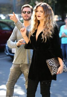 Khloe looked radiant as she filmed scenes for reality TV show Keeping Up With The Kardashians