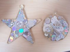 Resin Christmas tree decorations