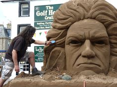 It would be fun to try to recreate this with kinetic sand!