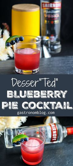 """This is the Desser""""Ted"""" craft cocktail - a combination of blueberries, Smirnoff No 21 vodka, amaro, amaretto and lime juice. Perfect for celebrating the new season of Curb Your Enthusiasm! #ad"""