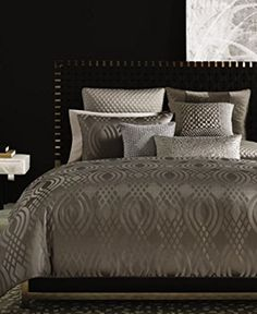 #limited Rich in detail. The #Hotel #Collection Dimensions Coverlet Collection features a chic diamond pattern for subtle style, while the quilted texture provide...