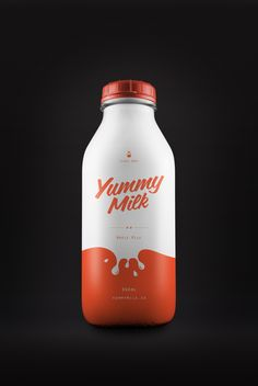 Color-Splashed Beverage Branding - Yummy Milk Packaging Introduces a Splatter of Visual Flavor (GALLERY) Juice Packaging, Cool Packaging, Food Packaging Design, Beverage Packaging, Bottle Packaging, Print Packaging, Packaging Design Inspiration, Branding Design, Dairy Packaging