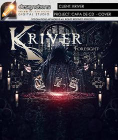 Project: Cover cd   Band: Kriver  Title Album: Foresight   Info: http://www.facebook.com/designationsartwork  - All Rights reserved - 2014 - http://www.designations,com.br  Designations artwork - The Art of Jean Michel from Brazil