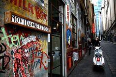 Cool sign & graffiti MoVida Next Door Where: 1 Hosier Lane, Melbourne Melbourne Restaurants, Stuff To Do, Cool Stuff, Her World, Next Door, Tapas, Graffiti, Around The Worlds, Australia