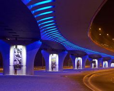 Philips Color Kinetics - Overpass of the Roundabout of the Victims of Katyn, Krakow, Poland