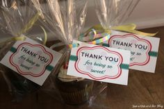 """A Sweet and Simple Thank You Gift by Just a Girl and Her Blog- """"thank you for being so sweet"""""""