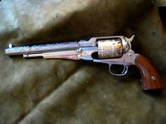Remington 1858 44 cal with Gold plate Very Pretty