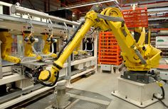 chaine robotisée palettisation batteries
