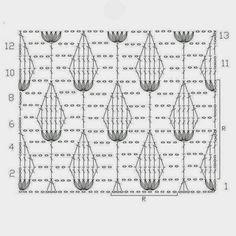 Blättermuster häkeln - crochet leafs Pattern
