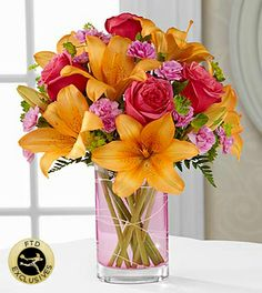 The FTD® Garden Terrace™ Bouquet - 11 Stems - VASE INCLUDED