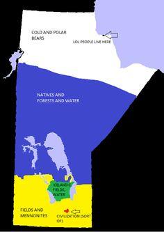 Manitoba Stereotype Map