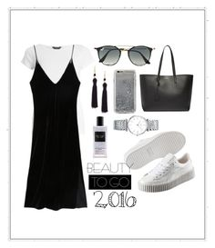 """2016"" by khairin-fadiah on Polyvore featuring Dorothy Perkins, Kenneth Jay Lane, Agent 18, Yves Saint Laurent, Puma, Ray-Ban, Longines and Victoria's Secret"