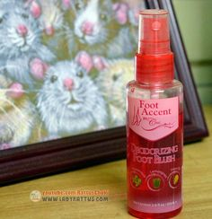 Foot Accent by Chic - Deodorizing Foot Blush Deodorant, Blush, Chic, Lady, Shabby Chic, Elegant, Rouge