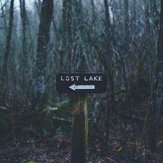 I keep finding this sign! I'm lost, I'm lost, I must be lost ~ I find this sign here and on leisurely drives so, therefore I must be lost! Or, it's as simple as finding the 'Lost Lake'.... or possibly the house second from the end, nooo...maybe  the last house on the left??? Ha!