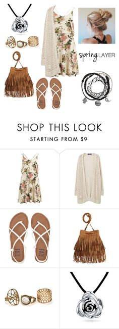 """""""cute spring outfit"""" by princessa-dani ❤ liked on Polyvore featuring VILA, Violeta by Mango, Billabong, H&M, Bling Jewelry, cutecardigan and springlayers"""