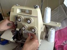 How to change serger thread