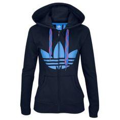 fe927219dde3e2 adidas Originals Trefoil FZ Hoodie - Women s at Champs Sports Adidas  Trefoil Hoodie