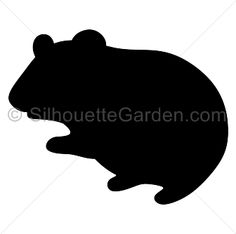 Hamster silhouette clip art. Download free versions of the image in EPS, JPG, PDF, PNG, and SVG formats at http://silhouettegarden.com/download/hamster-silhouette/