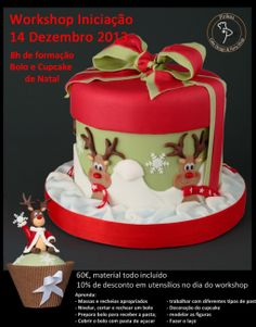 A fun xmas cake. Christmas Cake Designs, Christmas Cake Decorations, Christmas Cupcakes, Christmas Sweets, Christmas Cooking, Holiday Cakes, Noel Christmas, Christmas Goodies, Xmas Cakes