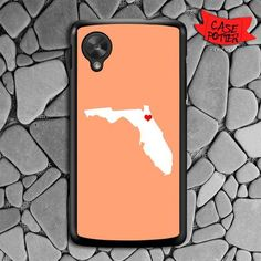 Cream State Heart Nexus 5 Black Case