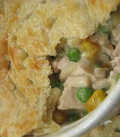 Recipe for Crock Pot Chicken Pot Pie - This was very good, however too large to fit in a pie plate - I used 9x13.