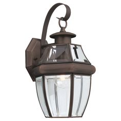 Sea Gull Lighting 8067-71 Lancaster 1 Light 14 inch Antique Bronze Outdoor Wall Lantern