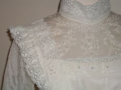 Vtg 60s Wedding Peasant Prairie Victorian Lace by mstopcatstyle, $139.95