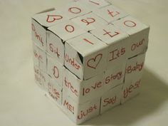 Romantic gift for a Rubik's Cube enthusiast: Love Cube!