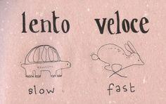 Italian Language ~ Lento, veloce (slow,fast) IFHN