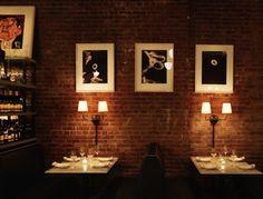 http://goop.com/restaurants/new-york-2/new-york/noho-greenwich-village/acme/ Cool interior - even cooler scene