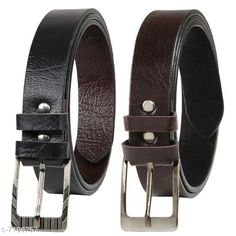 Belts Winsome Deal Combo of 2 Artificial Leather Formal Belts For Men's Material: PU Pattern: Solid Multipack: 1 Sizes:  Free Size (Waist Size: 46 in)  Country of Origin: India Sizes Available: 24, 26, 28, 30, 32, 34, 36, 38, 40, 42, 44, 46, 48, 50, 52, Free Size   Catalog Rating: ★3.9 (1779)  Catalog Name: Casual Unique Men Belts CatalogID_1134367 C65-SC1222 Code: 551-7106757-993