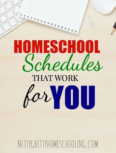 HOMESCHOOL SCHEDULES THAT WORK FOR YOU PINNABLE IMAGE