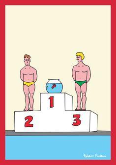 Swimming Race by Federico Monzani