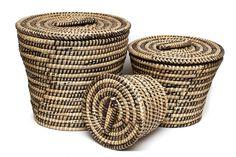 Handvoven laundry baskets from Bangladesh!