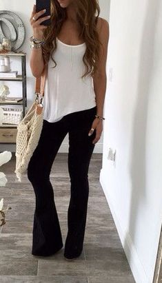 The pants are awesome! The whole look is so causal and comfy! Pantalon Bota 47948d2d8737