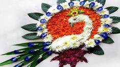 Flower Rangoli # Peacock  Rangoli