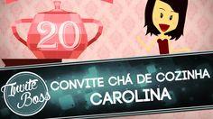 Convite Animado Chá de Cozinha (Personagem) - Caroline