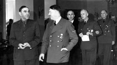 Ante Pavelic, Croatian leader, with Adolf Hitler