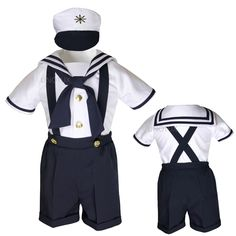 c24e4c4f9 A darling boys sailor short suit for babies 6 months old that comes ...