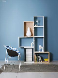 Med LADY 5159 Retroblå får rommet et friskt utseende. Interior Wall Colors, Interior Walls, Interior And Exterior, Wall Colours, Blue Rooms, Blue Walls, Inspiration Wall, Interior Inspiration, Jotun Lady